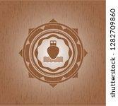 ship icon inside retro wood... | Shutterstock .eps vector #1282709860