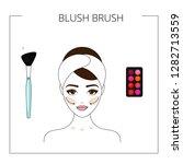 how to use blush brush   blush... | Shutterstock .eps vector #1282713559