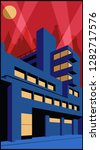 1920s art deco architecture... | Shutterstock .eps vector #1282717576