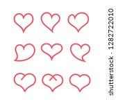 loves simple line vector | Shutterstock .eps vector #1282722010