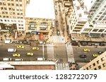 aerial view of new york street... | Shutterstock . vector #1282722079