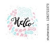 hand drawn positive lettering... | Shutterstock .eps vector #1282722373
