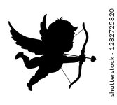 cupid with the love arrow.... | Shutterstock .eps vector #1282725820