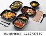 healthy lunch at workplace.... | Shutterstock . vector #1282737550