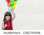 closeup of beautiful happy... | Shutterstock . vector #1282741006