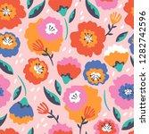 seamless pattern for spring... | Shutterstock .eps vector #1282742596