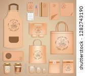 branding mockup set for coffee... | Shutterstock .eps vector #1282743190