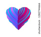 heart with ribbons illustration ...   Shutterstock .eps vector #1282744666