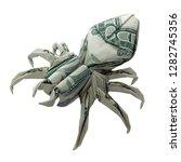 money origami spider folded... | Shutterstock . vector #1282745356