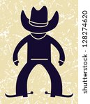 Cowboy Icon. Vector Illustration