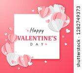 paper art of happy valentine's... | Shutterstock .eps vector #1282749373