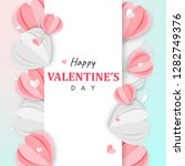 paper art of happy valentine's... | Shutterstock .eps vector #1282749376