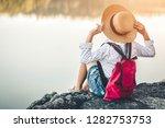 female tourists in beautiful... | Shutterstock . vector #1282753753