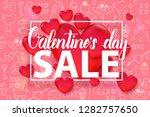 valentine's day sale background ...   Shutterstock .eps vector #1282757650