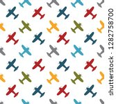 kids seamless pattern with... | Shutterstock .eps vector #1282758700