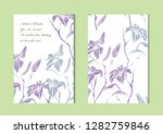 elegant cards with decorative... | Shutterstock .eps vector #1282759846