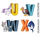 Animal Alphabet. Vector...
