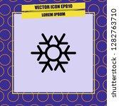 snowflake icon vector | Shutterstock .eps vector #1282763710