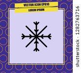 snowflake icon vector | Shutterstock .eps vector #1282763716