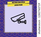 webcam icon vector | Shutterstock .eps vector #1282763719