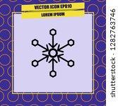 snowflake icon vector | Shutterstock .eps vector #1282763746