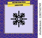 snowflake icon vector | Shutterstock .eps vector #1282763749