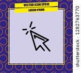 mouse cursor icon vector | Shutterstock .eps vector #1282763770