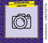 photo camera icon vector | Shutterstock .eps vector #1282763776