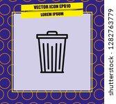 trash icon vector | Shutterstock .eps vector #1282763779