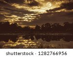 night sky with many stars and...   Shutterstock . vector #1282766956