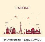 lahore skyline  pakistan.... | Shutterstock .eps vector #1282769470