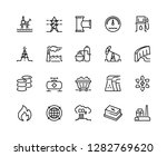 heavy industry line icons. oil... | Shutterstock .eps vector #1282769620