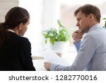 doubting hr manager looking at... | Shutterstock . vector #1282770016