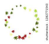 cute vegetative pattern with... | Shutterstock .eps vector #1282771543