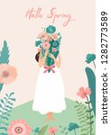 spring vector illustration with ... | Shutterstock .eps vector #1282773589