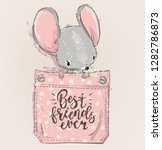 cute lovely cartoon mouse on...   Shutterstock .eps vector #1282786873