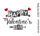 said happy valentine day.... | Shutterstock .eps vector #1282787896