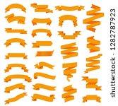 orange web ribbon big set ... | Shutterstock .eps vector #1282787923