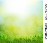 natural background with grass...   Shutterstock .eps vector #1282787929