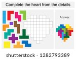 puzzle game with colorful... | Shutterstock .eps vector #1282793389