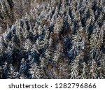 winter landscape with snowy...   Shutterstock . vector #1282796866