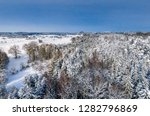 winter landscape with snowy...   Shutterstock . vector #1282796869