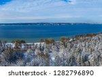winter landscape with snowy...   Shutterstock . vector #1282796890