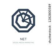 net icon vector on white...   Shutterstock .eps vector #1282800589