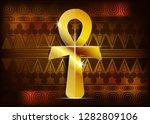 the gold ankh egyptian cross....   Shutterstock .eps vector #1282809106