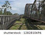 old railway and border bridge... | Shutterstock . vector #1282810696