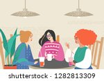 vector illustration with three... | Shutterstock .eps vector #1282813309
