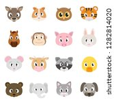 cute animals collection  set of ... | Shutterstock .eps vector #1282814020