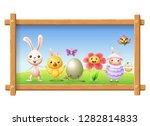 easter portrait photo frame  ... | Shutterstock .eps vector #1282814833