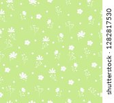 vector floral pattern in doodle ... | Shutterstock .eps vector #1282817530